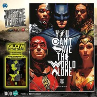 Buffalo-Games Justice League You Cant Save the World Alone Glow-in-Dark Puzzle (1000pc)
