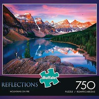 Buffalo-Games Mountains On Fire 750pcs Jigsaw Puzzle 0-599 Piece #17092