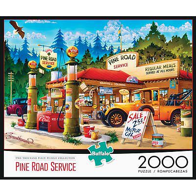 Buffalo Games Pine Road Service 2000pcs -- Jigsaw Puzzle Over 1000 Piece -- #2043