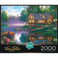 Buffalo-Games Cabin Fever 2000pcs Jigsaw Puzzle Over 1000 Piece #2047
