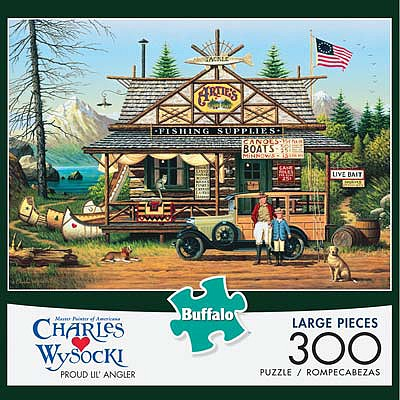 Buffalo Games Proud Lil Angler 300pcs Large Format -- Jigsaw Puzzle 0-599 Piece -- #2619