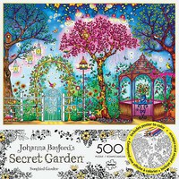 Buffalo-Games Songbird Garden 500pcs Build/Color Jigsaw Puzzle 0-599 Piece #3843