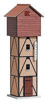 Busch Half-Timber & Wood Water Tower O Scale Model Railroad Building #10025