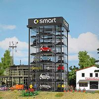 Busch Smart Car Tower HO Scale Model Railroad Building #1002