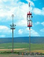 Busch Cell Phone Towers (2) HO Scale Model Railroad Trackside Accessory #1021