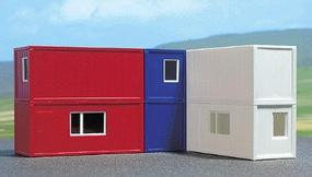 Busch Container Set (6) HO Scale Model Railroad Building #1031