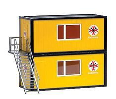 Busch Container Set - Mine Rescue HO Scale Model Railroad Building #1033