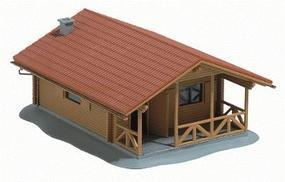 Busch Log Cabin - Kit HO Scale Model Railroad Building #1035
