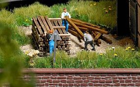 Busch Real Wood Building Timbers pkg(100) HO Scale Model Railroad Building Accessory #1129