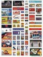 Busch Modern German Advertising Poster Set pkg(60) HO Scale Model Railroad Billboard Sign #1138