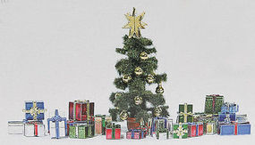 Busch Christmas Gift Set w/Tree HO Scale Model Railroad Scenery #1140