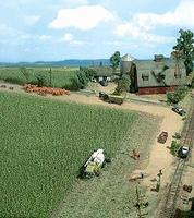 Busch Corn Field - Kit - 10 x 10cm HO-Scale Model Railroad Grass Earth #1202