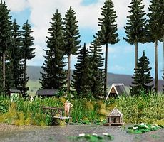 Busch Forest Pond & Accessories - Kit HO Scale Model Railroad Scenery #1267