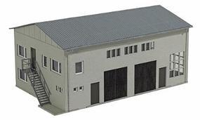 Busch Concrete Garage - Kit - 7-1/2 x 4-7/8 x 3-7/16 HO Scale Model Railroad Building #1411
