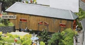 Busch Covered Bridge - Kit - 10 x 4-5/8 x 3-1/2 HO Scale Model Railroad Building #1420