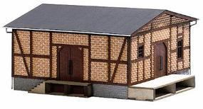Busch Half-Timbered Freight Shed - 5-1/2 x 5-1/2 x 3 HO Scale Model Railroad Building #1422