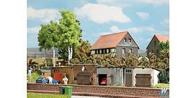 Busch 4 Shed Kits HO Scale Model Railroad Building #1454
