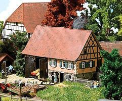 Busch Forchtenberg Small Historic Half-Timber Farmhouse - Kit HO Scale Model Railroad Building #1504