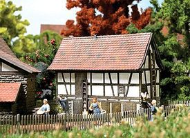 Busch Historic Hohenloher Half-Timber Small Animal Stable Kit HO Scale Model Railroad Building #1515