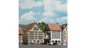 Busch Half Timbered Houses/Bridge HO Scale Model Railroad Building #1538