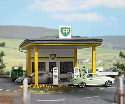 HO Scale Walthers Trainline 931-920 Gas Station Building Kit | eBay