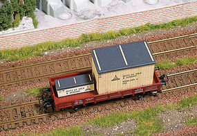 Busch West German Wood Crate Load HO Scale Model Train Freight Car Load #1685