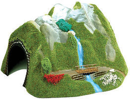 Busch Curved Tunnel with Waterfall HO Scale Model Railroad Tunnel #3007
