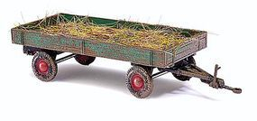 Busch 1958 Schtzle Low-Sided Farm Trailer With Manure Load HO Scale Model Railroad Vehicle #44974