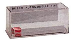 Busch Clear Automobile Case - 3 x 1-3/16 x 1-5/16 HO Scale Model Railroad Vehicle Accessory #49970