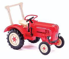 Busch 1957 Porsche Junior K Farm Tractor With Roll Bar HO Scale Model Railroad Vehicle #50004