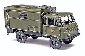 Busch 1973 Robur LO 2002 A Truck w/Box Body East German Army HO Scale Model Railroad Vehicle #50210