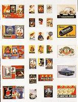 Busch Advertisement Sign Set HO Scale Model Railroad Billboard Sign #6002