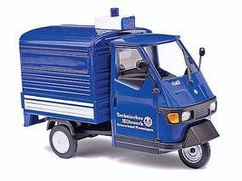 Busch 2006 Piaggio Ape 50 3-Wheel Blue Pickup Truck O Scale Model Railroad Vehicle #60053