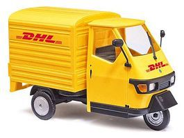 Busch Piaggio Ape 50 Pickup Truck w/Bed Cover DHL O Scale Model Railroad Vehicle #60056