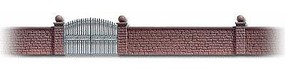 Busch Stone Wall w/Metal Gate HO Scale Model Railroad Building Accessory #6014