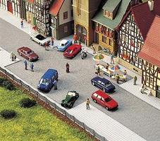 Busch Old Town Square HO Scale Model Railroad Road Accessory #6032