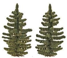 Busch Spruce Trees pkg(2) - 2-3/16 55mm Tall HO Scale Model Railroad Tree #6131