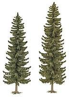 Busch Spruce Trees pkg(2) - 6-13/16 & 7-13/16 HO Scale Model Railroad Tree #6134