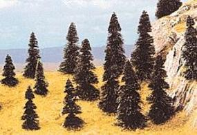 Busch Pine Tree Assortment - 1-9/16 - 3-1/2 pkg(20) HO Scale Model Railroad Tree #6498