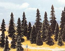 Busch Gmbh Pine Tree Assortment - 2-3/8 - 4-11/32'' pkg(100) -- HO Scale Model Railroad Tree -- #6499