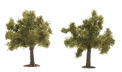 Busch Gmbh Trees - Fruit Tree - 35mm - Package of 2 -- Z Scale Model Railroad Tree -- #6817
