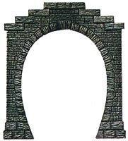 Busch Single Track Tunnel Portals - With Liner Holder (2) HO Scale Model Railroad Scenery #7026