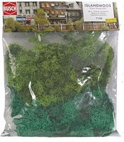 Busch Lichen - Light & Dark Green, 5-5/16oz 150g Model Railroad Grass Earth #7106