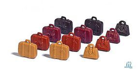 Busch Suitcases & Handbags (12) HO Scale Model Railroad Building Accessory #7795