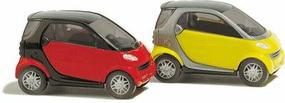 Busch Smart 2-Pack - 2-Door Subcompact City Coupe N Scale Model Railroad Vehicle #8350
