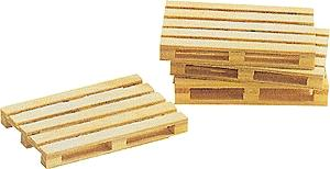 Busch Gmbh Wooden Pallets (5) -- G Scale Model Railroad Building Accessory -- #8615