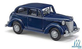 Busch 1938 Opel Olympia Sedan (Blue) HO Scale Model Railroad Vehicle #89105
