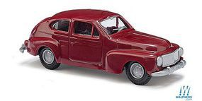 Busch 1958 Volvo 544 Station Wagon (Red) HO Scale Model Railroad Vehicle #89109