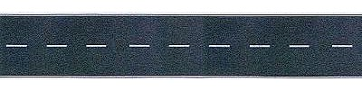 Busch Gmbh Flexible Self Adhesive 2-Lane Paved Hiwy Straight -- HO Scale Model Railroad Road Accessory -- #9710