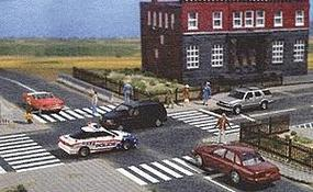 Busch Flexible Paved Parking Lot, Self Adhesive HO Scale Model Railroad Road Accessory #9713